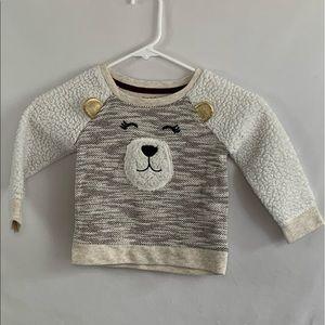 Cat & jack 2T fuzzy bear sweater
